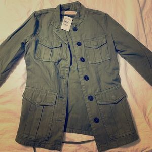 Tory Burch military jacket short olive green